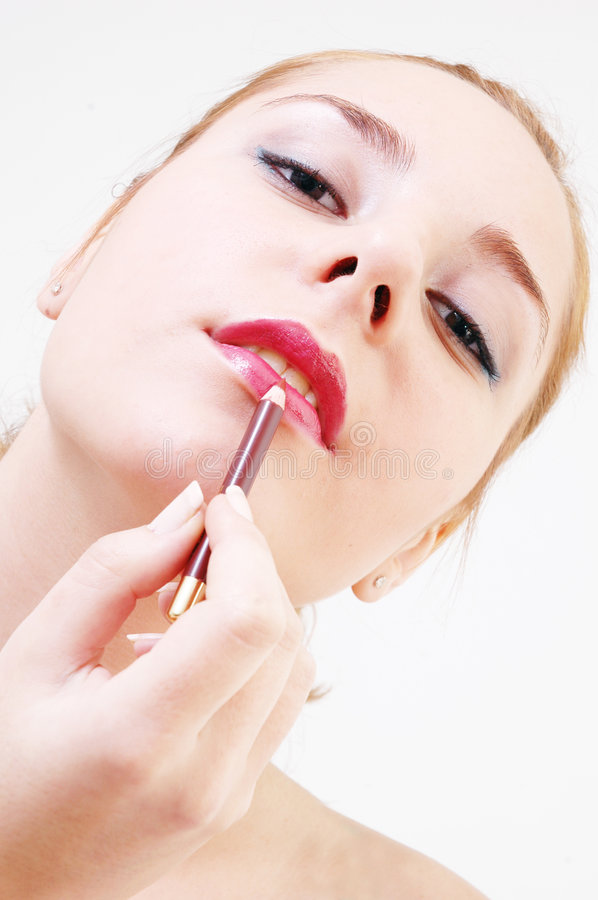 Free Girl With Lip-stick Stock Photography - 328622