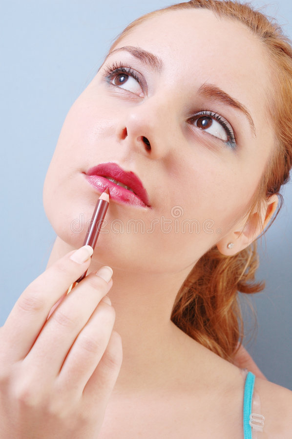 Free Girl With Lip-stick Stock Photography - 328672