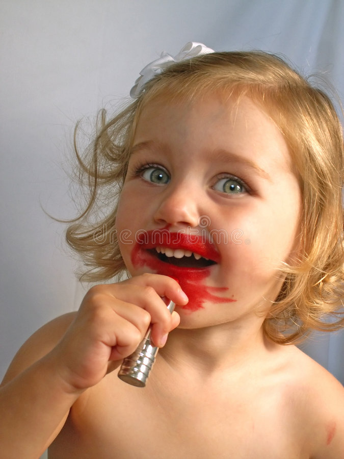 Free Girl With Lipstick Stock Photo - 917750