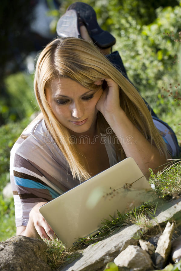 Free Girl With Netbook Stock Photos - 10544683