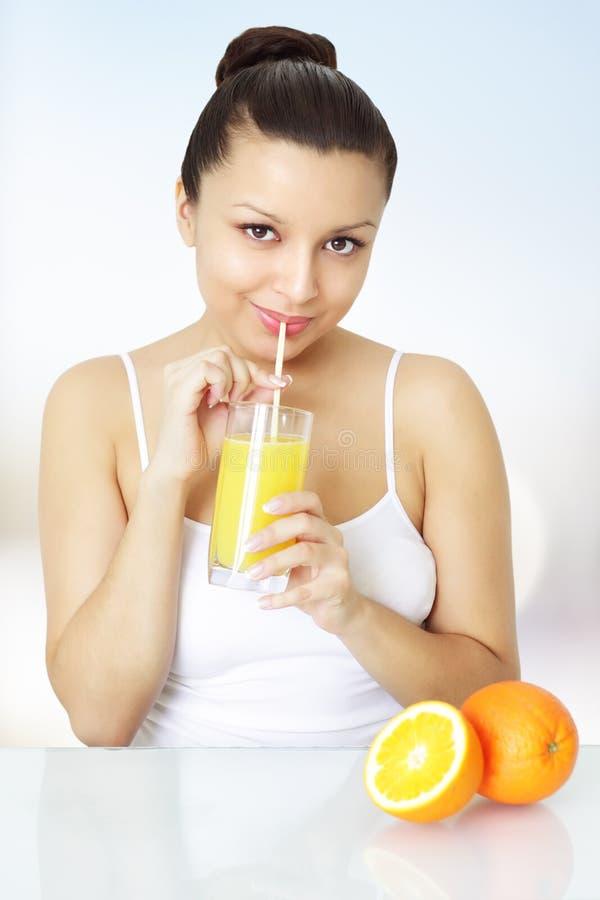 Free Girl With Orange Juice Royalty Free Stock Photography - 18521227