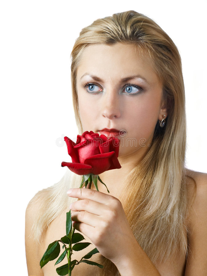 Free Girl With Rose Stock Photos - 3592513