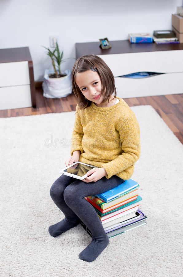 Free Girl With Tablet Stock Images - 49785484
