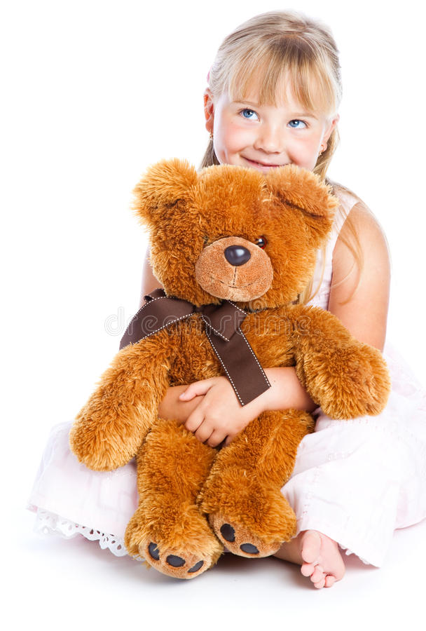 Free Girl With Teddy-bear Stock Images - 10616854