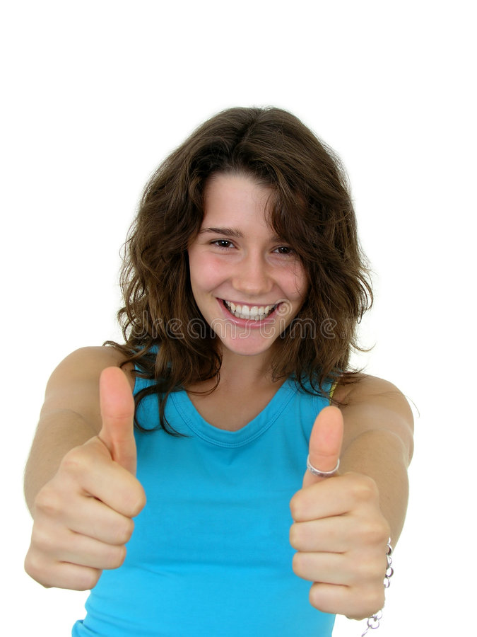 Free Girl With Thumbs Up Stock Photography - 293212