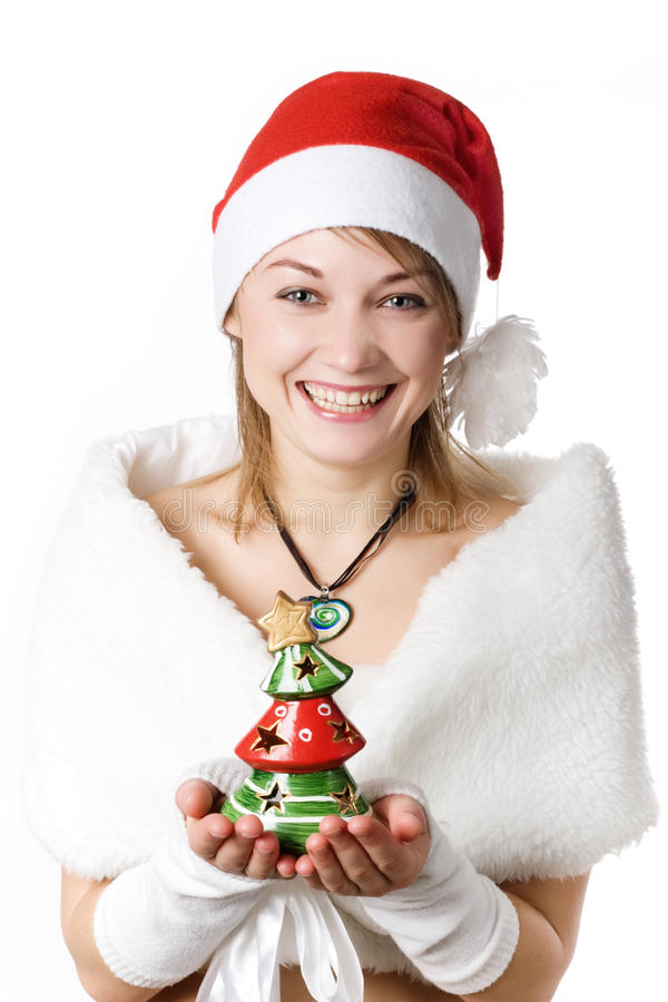 Free Girl With Toy-tree Royalty Free Stock Photography - 11955887