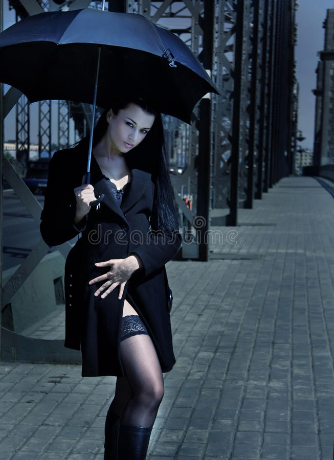 Free Girl With Umbrella Royalty Free Stock Images - 10484149
