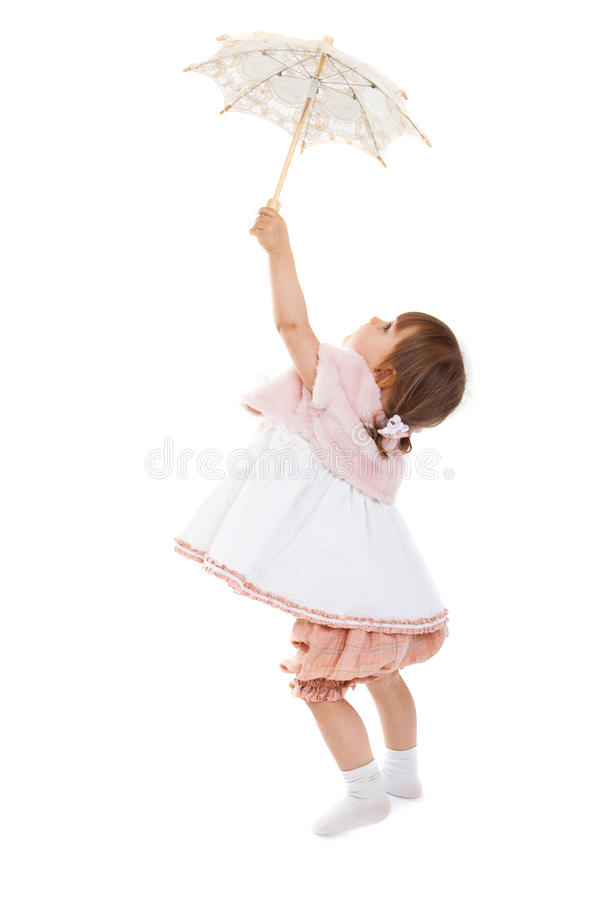 Free Girl With Umbrella Stock Photography - 19226062