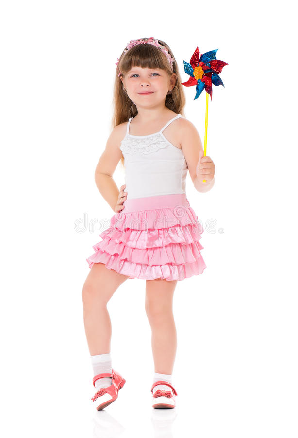 Free Girl With Windmill Stock Photos - 55214153