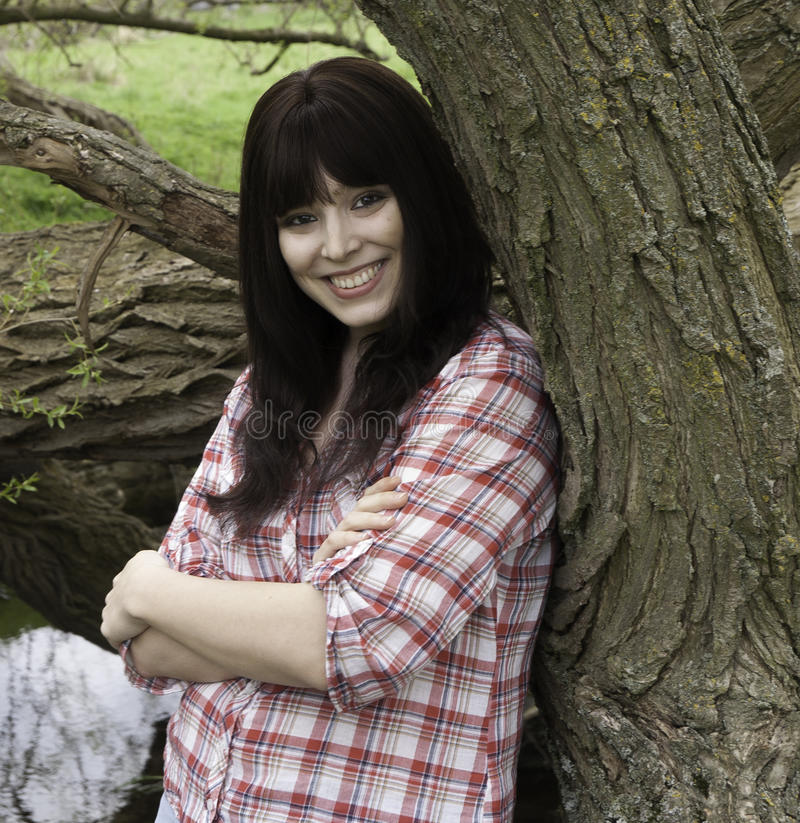 Download Girl In The Woods Stock Photo - Image: 28865470