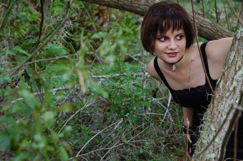 Girl in Woods stock photos