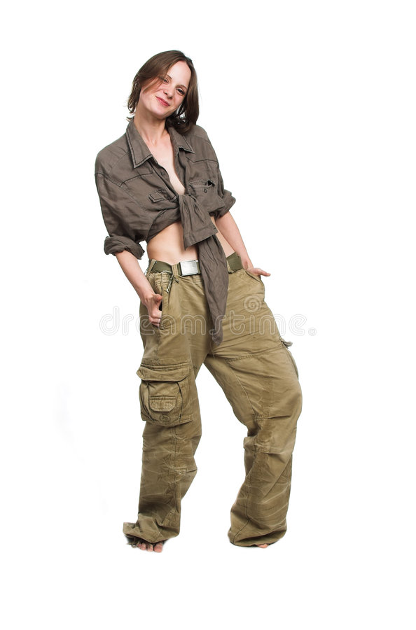 Download The Girl In Working Clothes Stock Photo - Image: 3529880