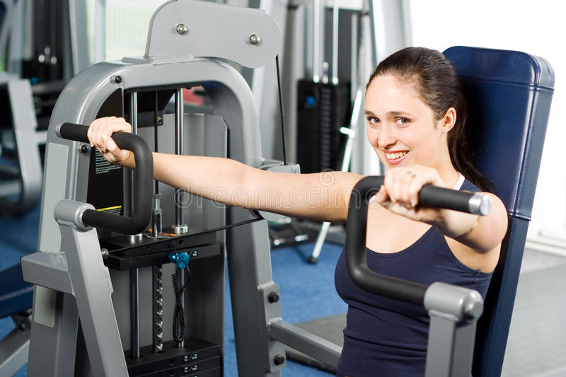 Girl Working Out In The Gym Stock Photos