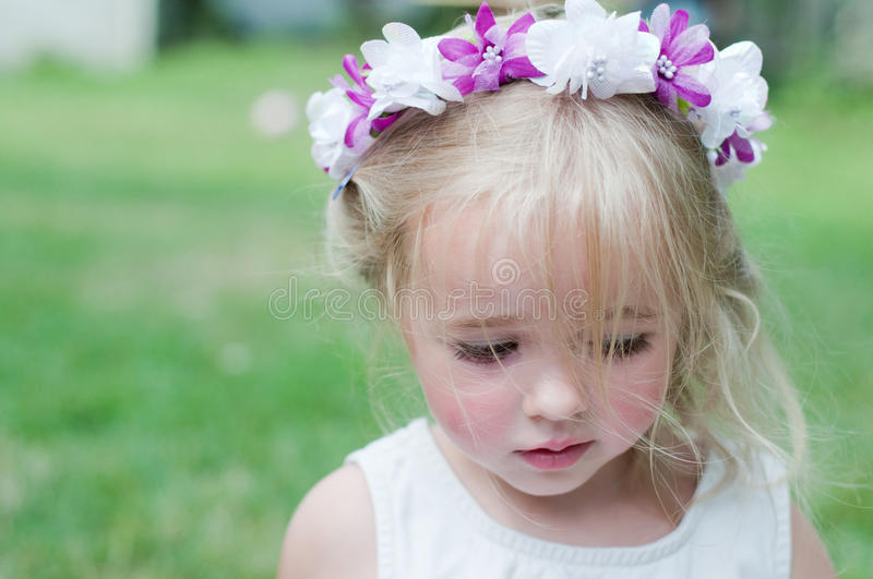 Download Girl with wreath stock photo. Image of outdoor, child - 17175182