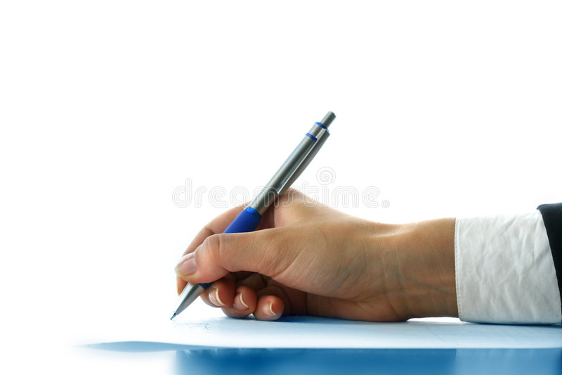 Girl write royalty free stock image
