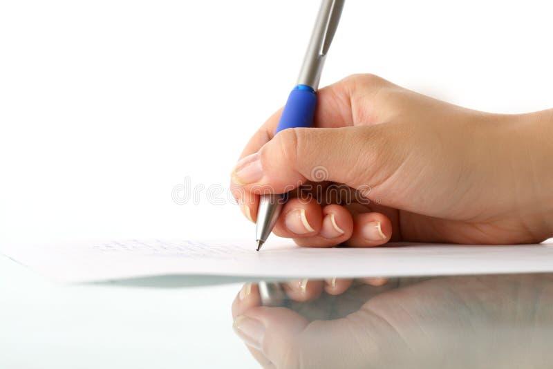 Girl write royalty free stock photo