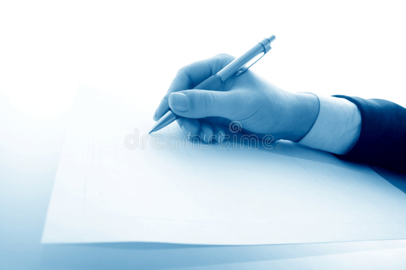 Girl write royalty free stock images