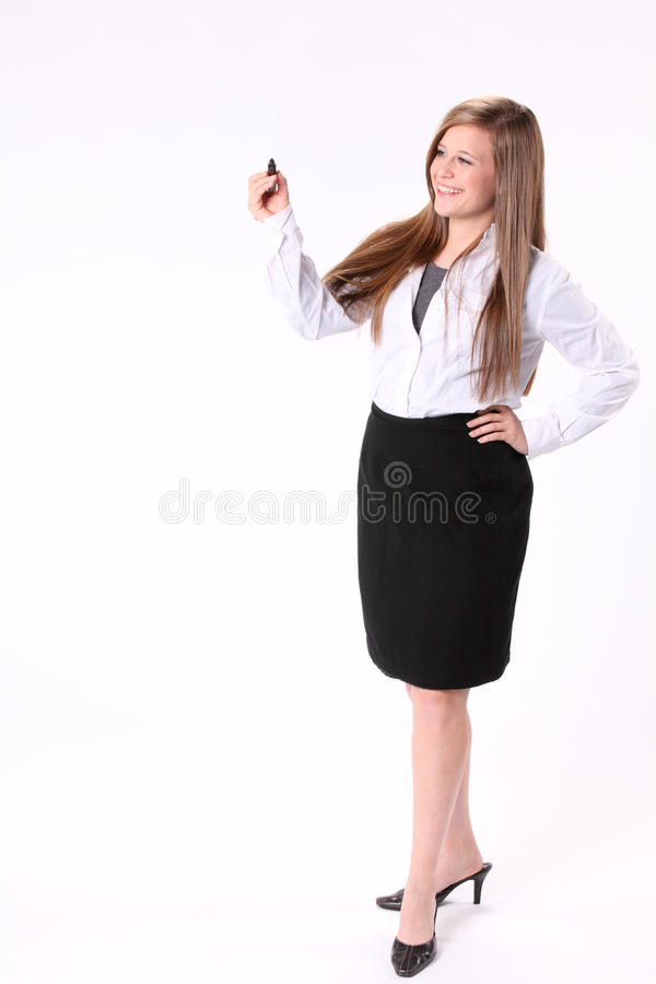 Girl Writing Royalty Free Stock Images
