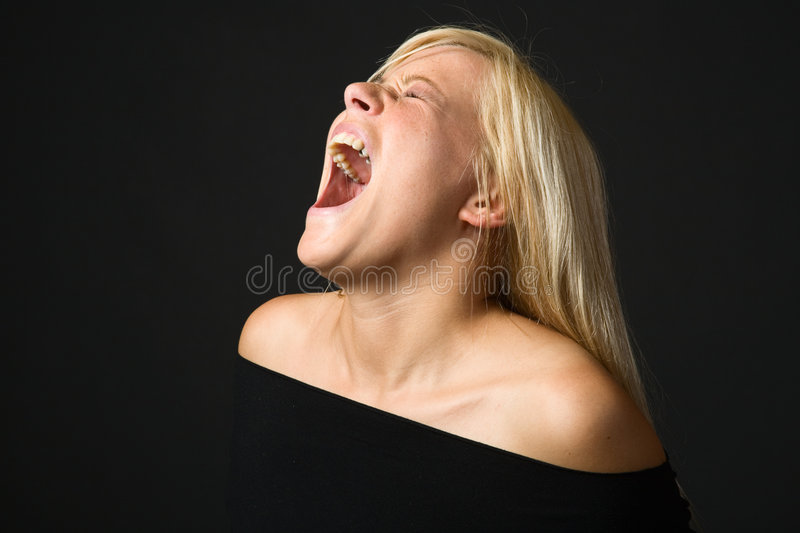 Girl yelling royalty free stock photography