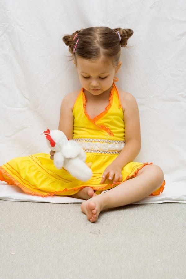 Download Girl in yellow dress stock image. Image of childhood, elegant - 2995713