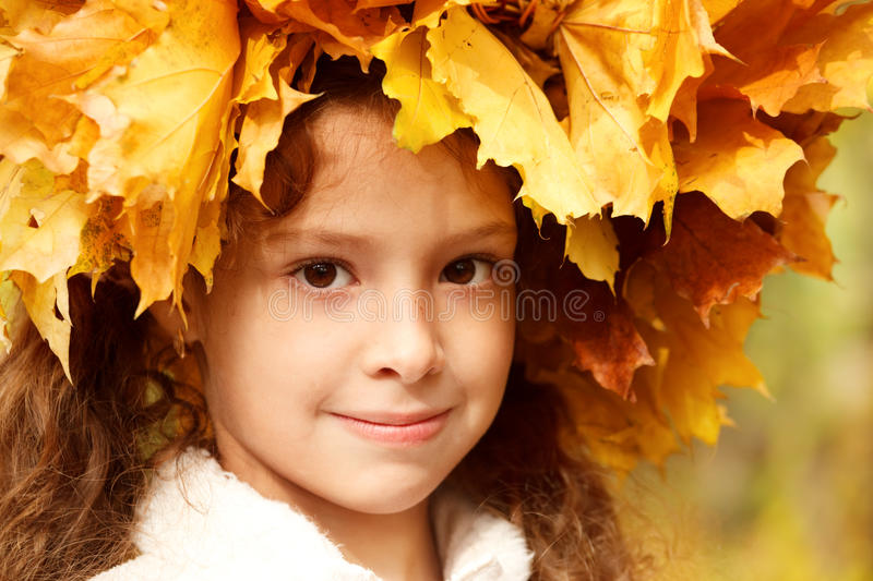Download Girl In A Yellow Head Wreath Stock Photo - Image: 21516234
