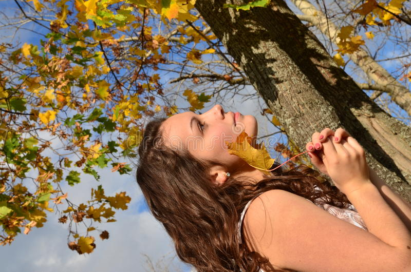 Download The Girl With The Yellow Sheet Stock Photos - Image: 28662083