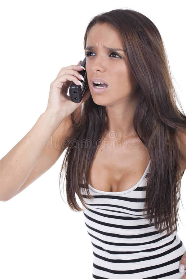Download Girl yells on the phone stock photo. Image of angry, mobile - 16118866