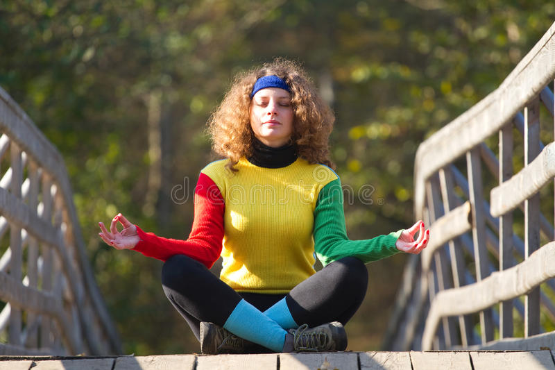 Download Girl in yoga pose stock image. Image of pose, lifestyle - 23236515