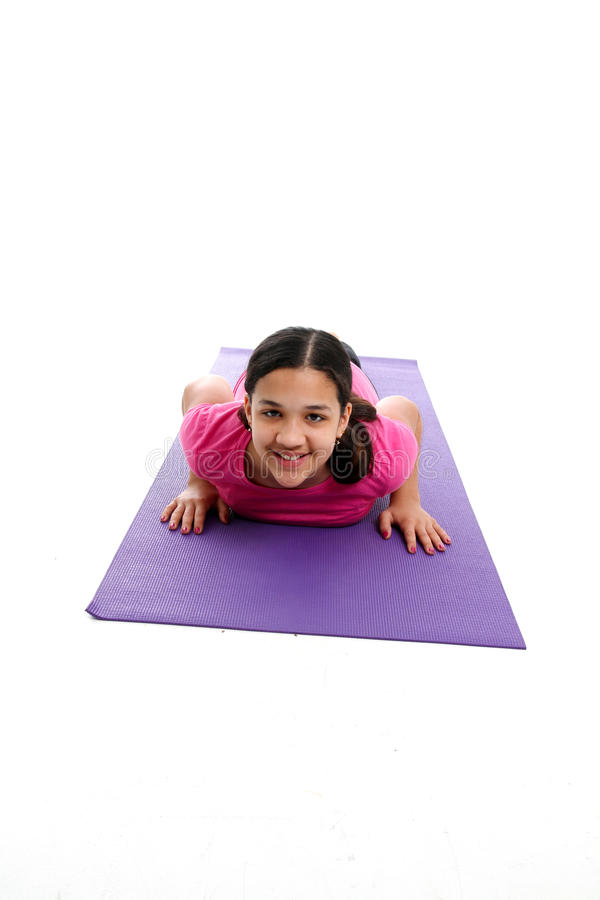 Girl In Yoga Pose Stock Photography