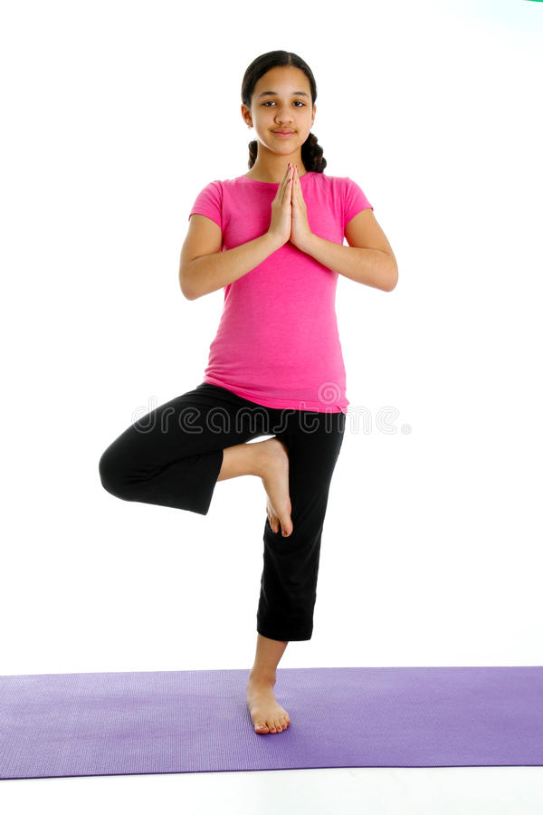 Download Girl in Yoga Pose stock image. Image of yoga, mind, child - 23959205