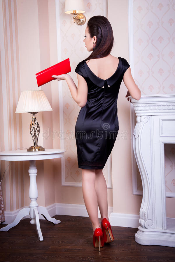 Girl, young pretty girl advertises clothing royalty free stock photos