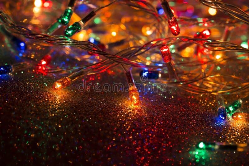 Girland f?r julljus royaltyfria bilder