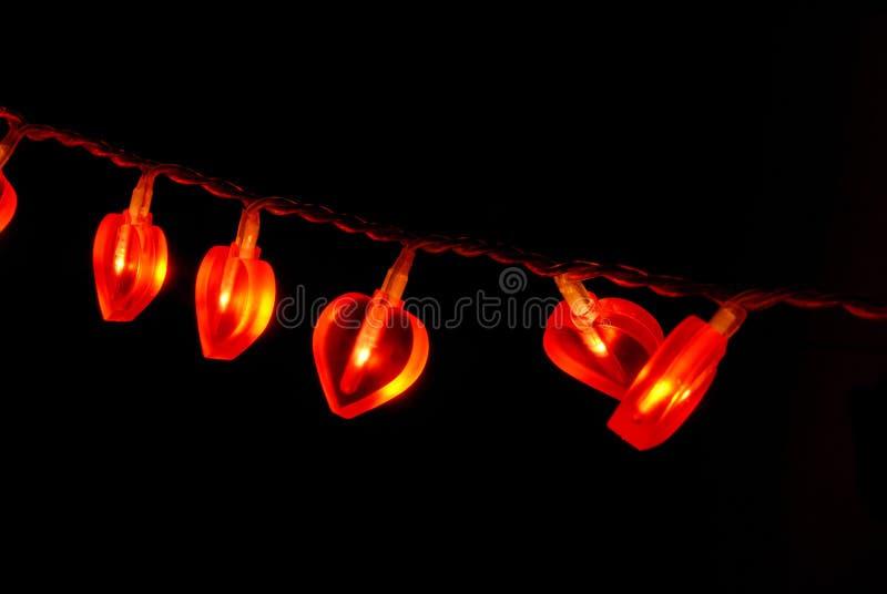 Download Girland som glöder röd fotografering för bildbyråer. Bild av elkraft - 3527737