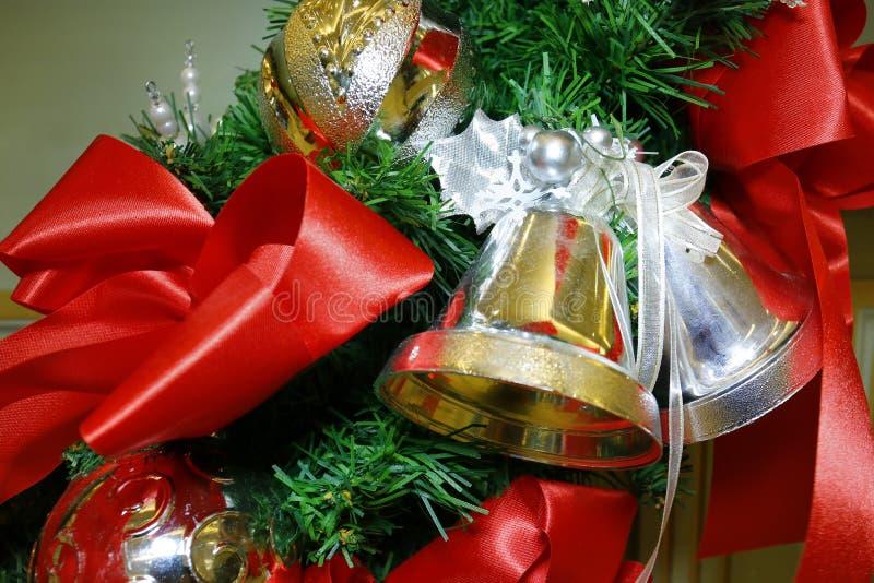 Girlanda Christmas dzwonów dekoracja fotografia stock