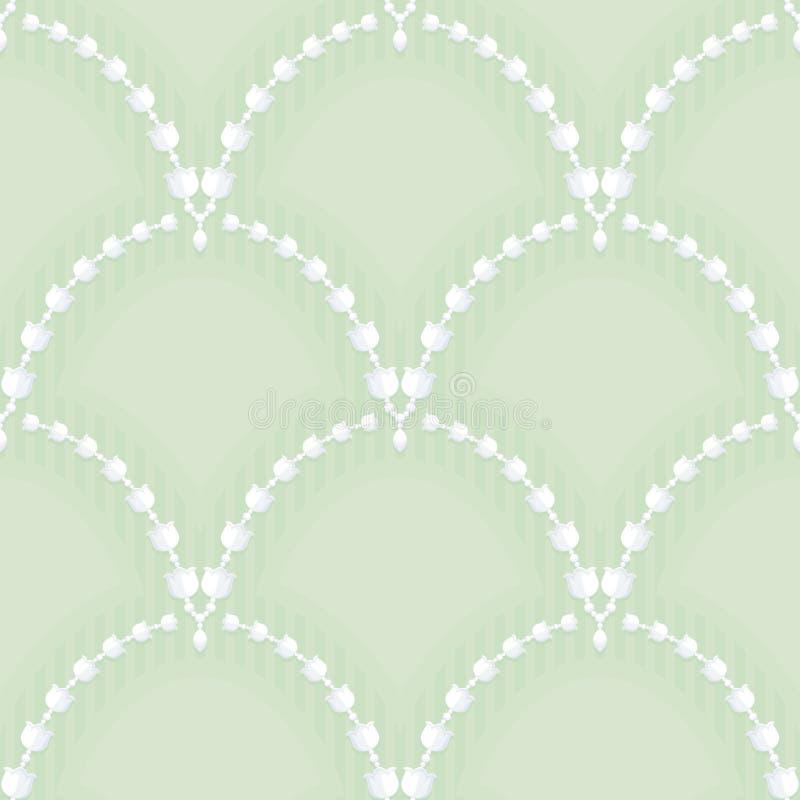 Girlander av den vita liljekonvaljen arkivbild