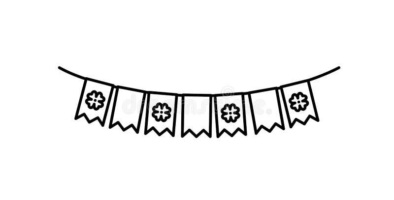 Girlander som hänger dag för partihelgonpatricks royaltyfri illustrationer