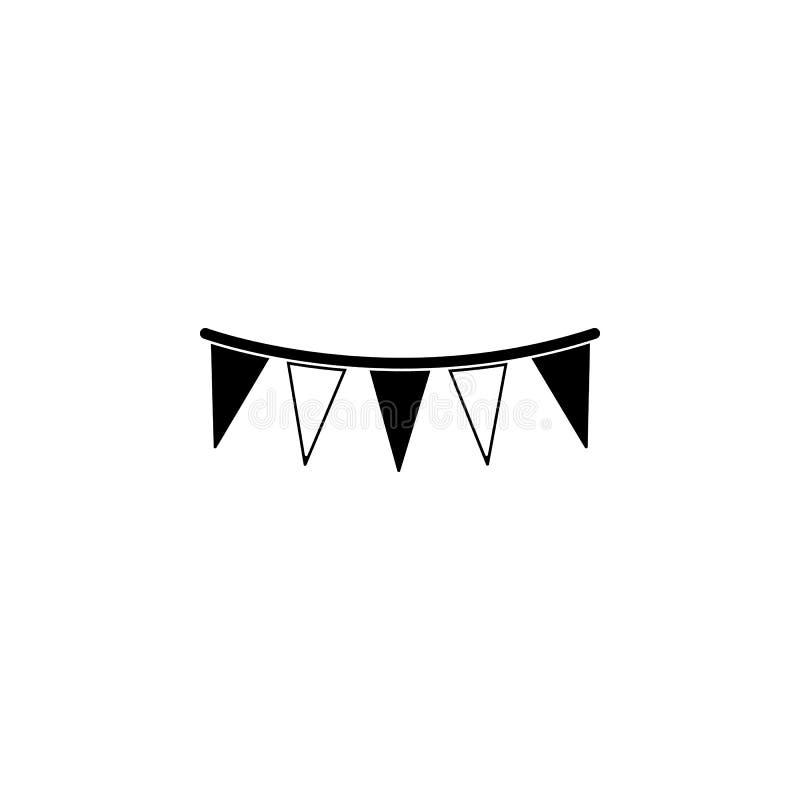 Girlandillustration Beståndsdel av partisymbolen för mobila begrepps- och rengöringsdukapps Den detaljerade girlandillustrationen royaltyfri illustrationer