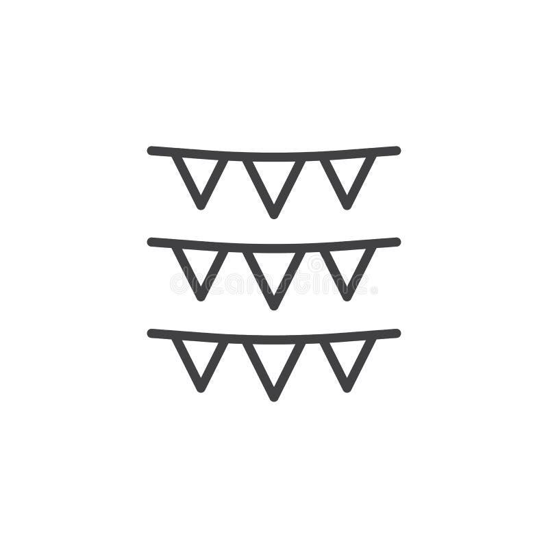 Girlandlinje symbol vektor illustrationer