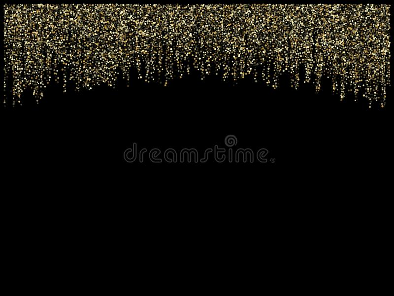 Girlandljusguld blänker hängande vertikala linjer vektorferiebakgrund stock illustrationer
