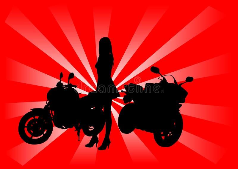 girlbikes ilustracja wektor