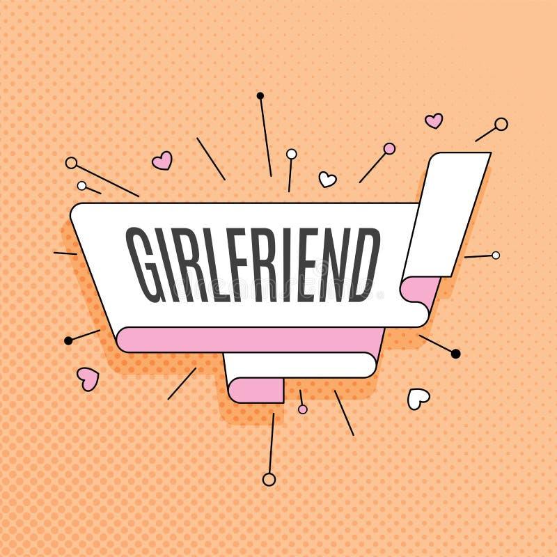 girlfriend Rétro élément de conception dans le style d'art de bruit sur l'image tramée Co illustration libre de droits