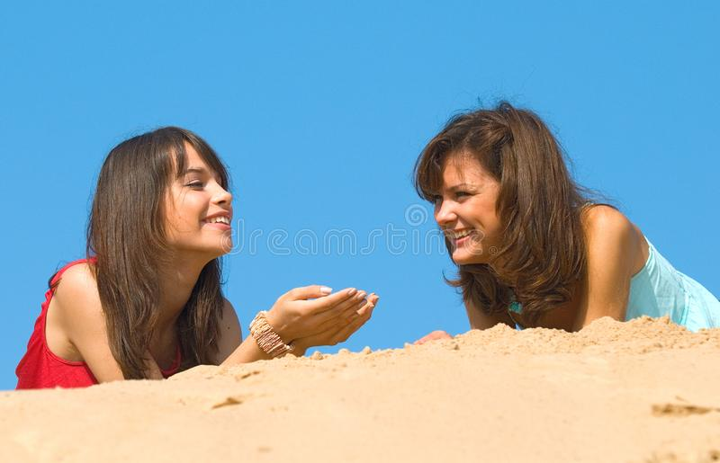 Girlfriends stock photography