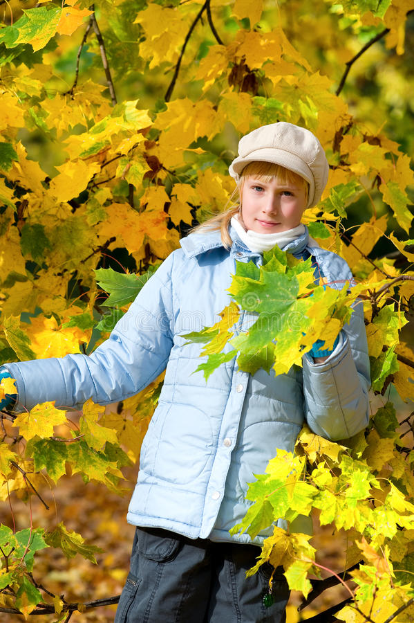 Download Girlie & autumn stock image. Image of girl, girlie, nature - 11992725