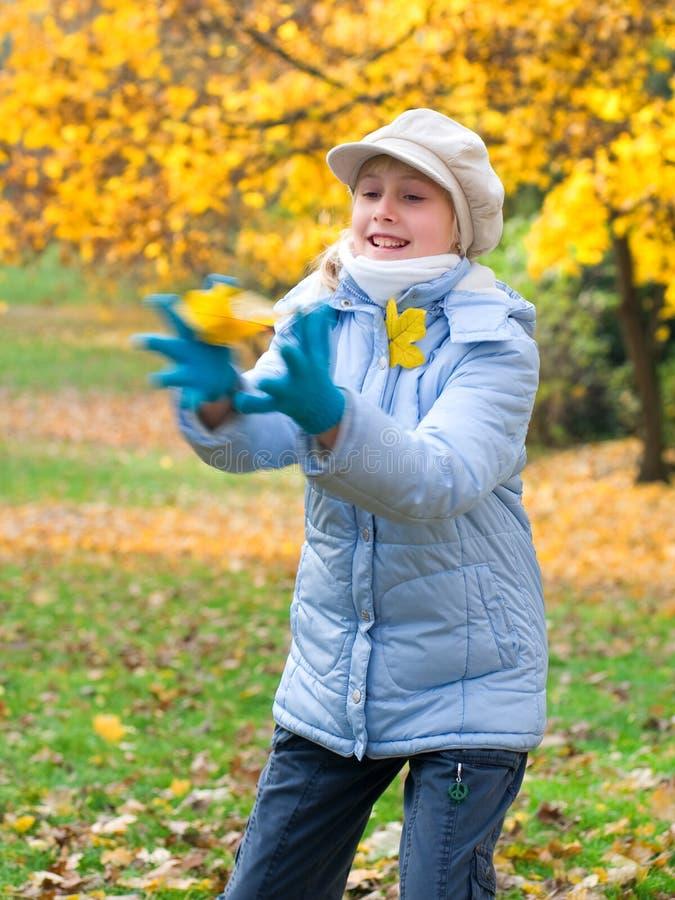 Download Girlie & autumn stock image. Image of expression, dorable - 12388297