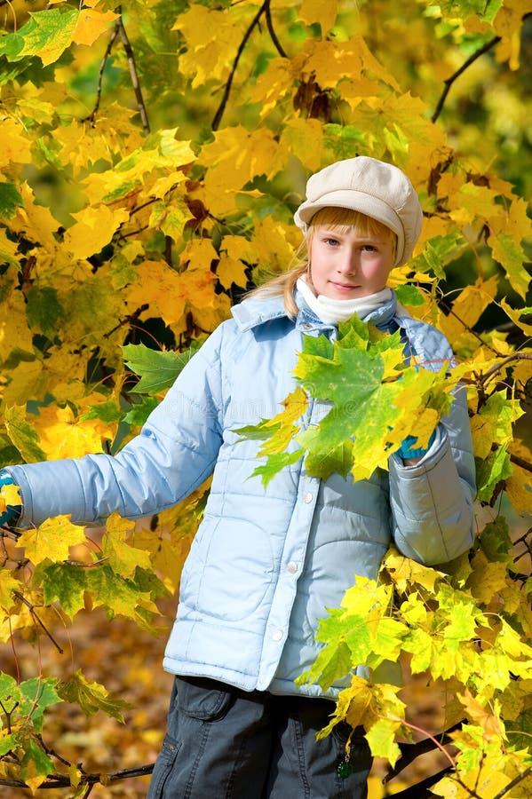 Girlie et automne photo libre de droits