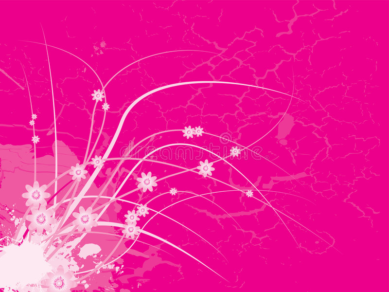Girlie floral rose illustration stock