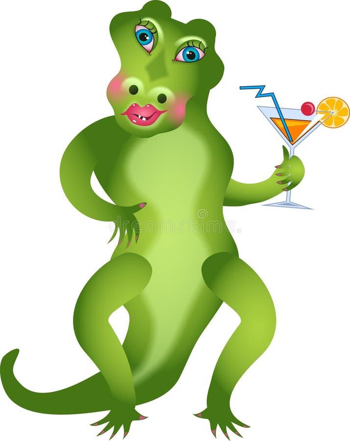 girlie gator иллюстрация вектора