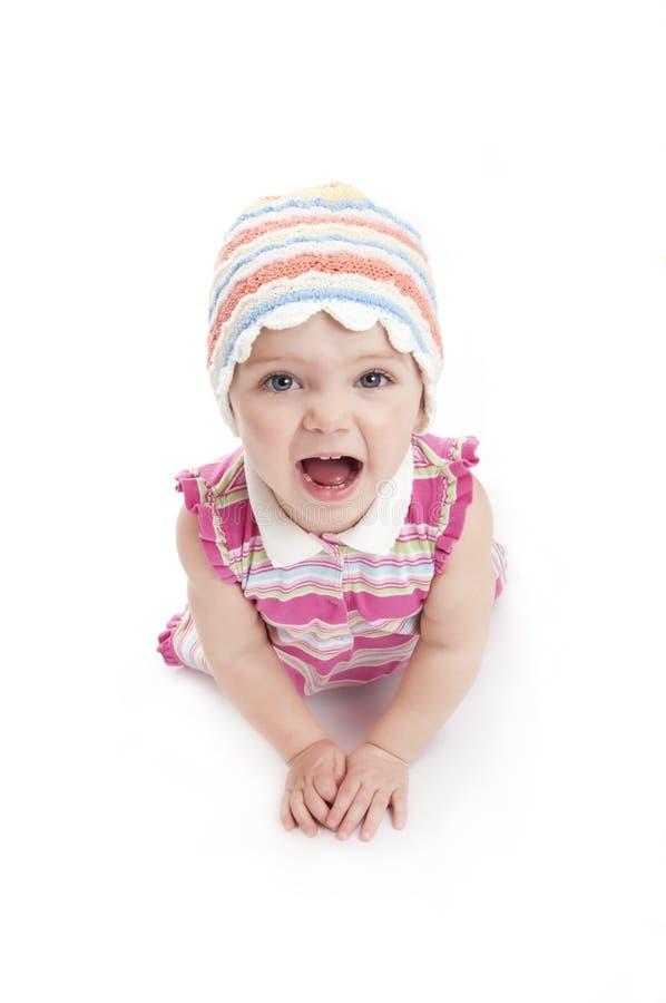 Girlie heureux images stock