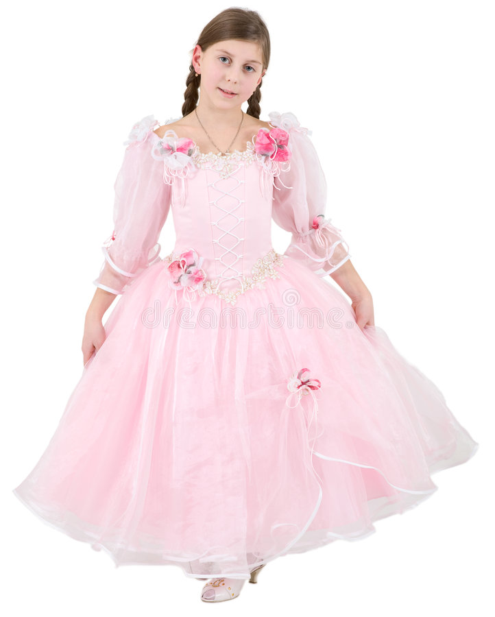 Girlie in roze kleren royalty-vrije stock foto's