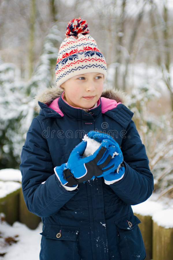 Download Girlie In Snow Stock Photography - Image: 8038502